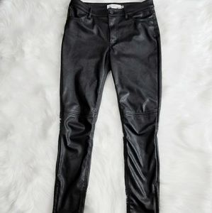Black Faux Leather High Quality Style Pants H&M 6